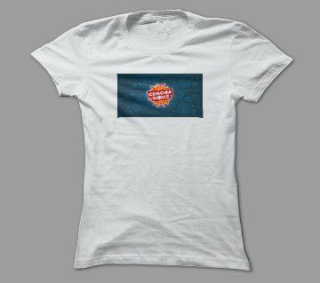 The Novel Corona Virus White Polyester T-Shirt
