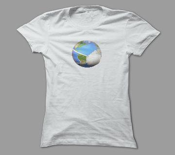 Safe World White Polyester T-Shirt
