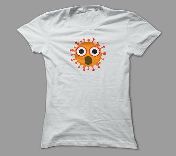 Mr. Virus White Polyester T-Shirt