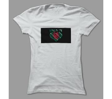 Born In Bangladesh White Polyester T-Shirt