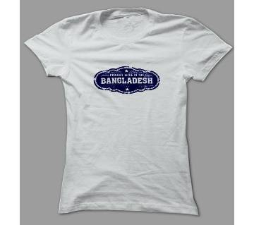Made In The Bangladesh White Polyester T-Shirt