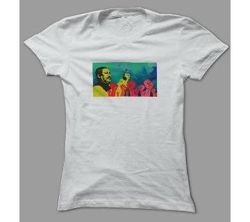 Shadhinota Dibosh White Polyester T-Shirt