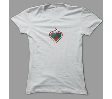 Love Bangladesh White Polyester T-Shirt