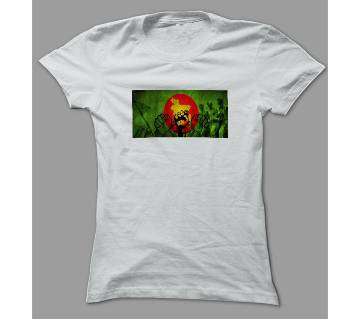 independence Day White Polyester T-Shirt