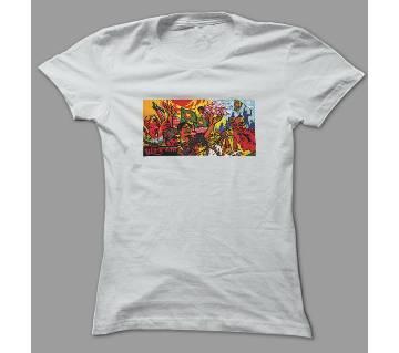 Sadhinota songram 26 March White Polyester T-Shirt