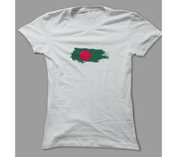 Art Red Green White Polyester T-Shirt