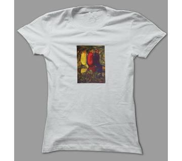 Art Fictional  White Polyester T-Shirt