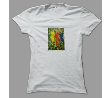 Art Village woman White Polyester T-Shirt
