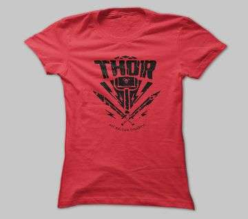 THOR RED COTTON TSHIRT FOR MEN