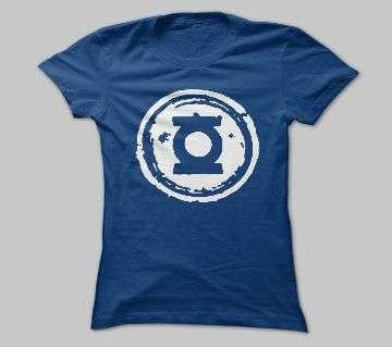 Half Sleeve Blue Cotton Tshirt For Men