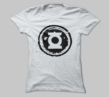 Half Sleeve White Cotton Tshirt For Men