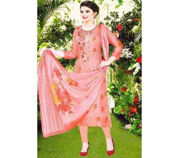 Unstitched Cotton Premium Digital Firdous Lawn Three Pcs (U066-11123)