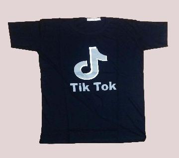 TikTok Black Te Shirt for man