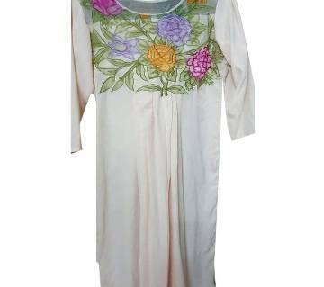 Unstitched 1 piece muslin embroidery kameez
