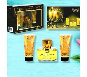 Creation Lamis Golden Wave Giftset (3 Piece Gift Set )-UAE
