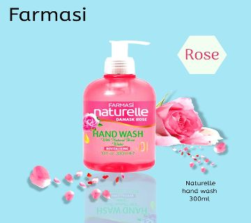 Farmasi Naturelle Hand Wash Rose  (300 Ml)-Turkey