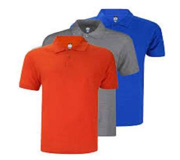 MULTICOLOR Mens New Casual Half Sleeve Polo t-Shirt For Men 3 packs./.. Combo Pack of  3