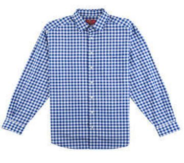 Multicolor Cotton Long Sleeve Shirt for Men -White and Blue check