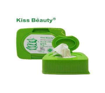 KISS BEAUTY ALOE VERA 92% CLEANSING TOWEL 120PCS China