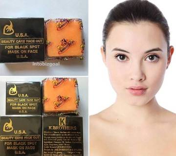 K-BROTHERS Original USA Beauty Care Face Out For Black Spot Whitening Soap 50g THAI