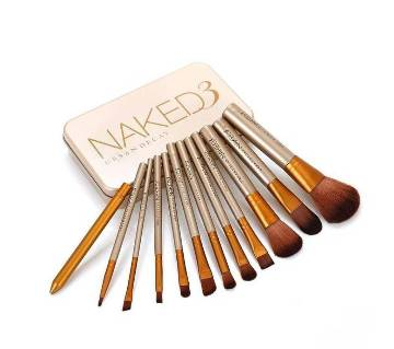 Naked3 Makeup ব্রাশ সেট  (Pack of 12) UK