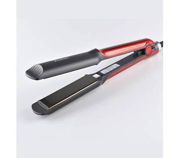 KM-531 Professional Hair Straightener - Black and Red