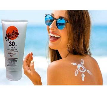 Malibu Miracle tan sunscreens 30SPF lotion UK 150ml