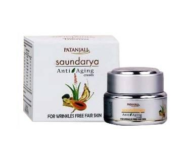 Patanjali Saundarya Anti Aging Cream 15g India