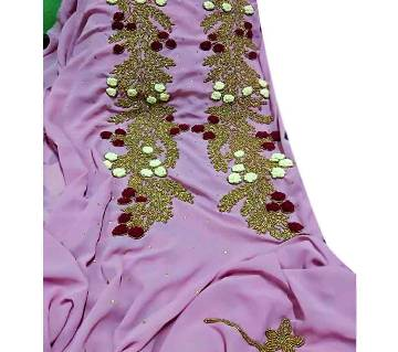 Unstitched Georgette With Embroidery Dress 1 piece