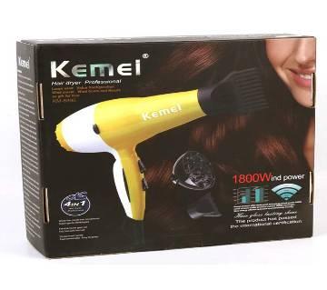Kemei KM-8895 Professional 950W Luminous Yellow Hair Dryer Blow Dryer