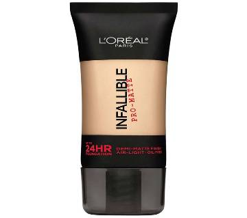 LOreal Paris Infallible Pro-Matte Liquid Foundation 50ml UK