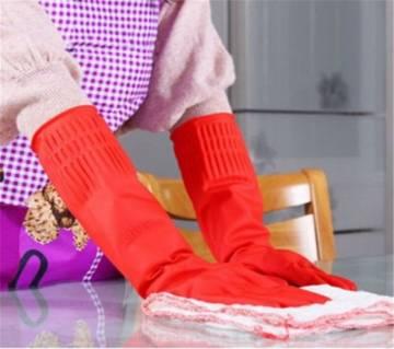 Hand Kitchen Gloves - Red