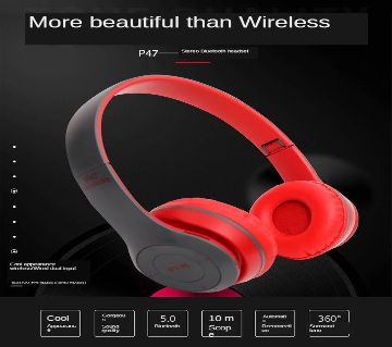 P47 - WIRELESS BLUETOOTH HEADPHONE 1Psc
