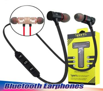 Magnetic Bluetooth stereo Earphones With Microphone