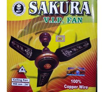 Sakura Vip 36 Inches Ceiling Fan-Maroon