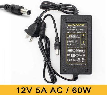 12V 5A power supply adapter AC/DC
