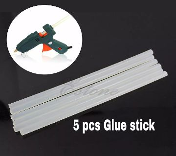 Glue Gun Stick 5 Pcs White