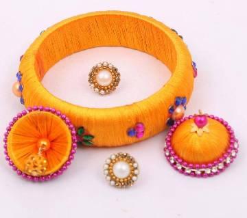 Silk Thread Bangles & Earrings