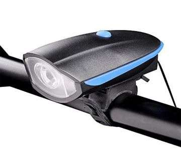 Rechargeable Bike Horn and Light 140 DB with Super Bright 250 Lumen Light