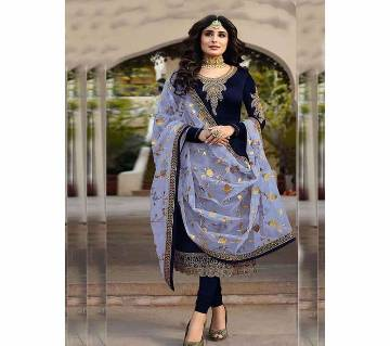 Indian soft Georgette with embroidery work 3 piece