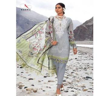 Unstitched Cotton With Embroidery Salwar Kameez For Women