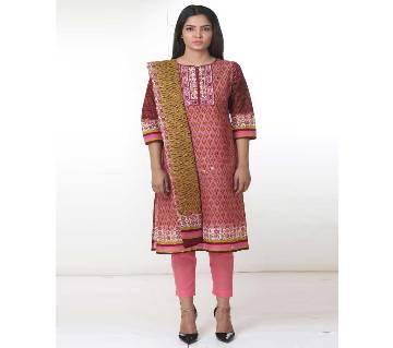 Unstitched Star Lawn 3 Pieces - 09-Rose Pink