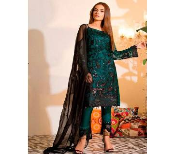 unstitched net With Embroidery Salwar Kameez
