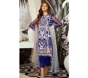 Unstitched Georgette 3 Piece-With Embroidery Rinaz Afrozeh-D.NO.1803 - UNC Top