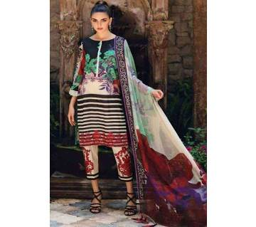 unstitched Lawn Salwar kameez for women