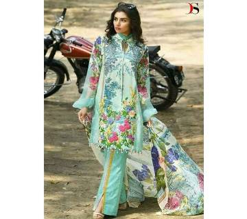 Unstitched Cotton Slawar kameez for women