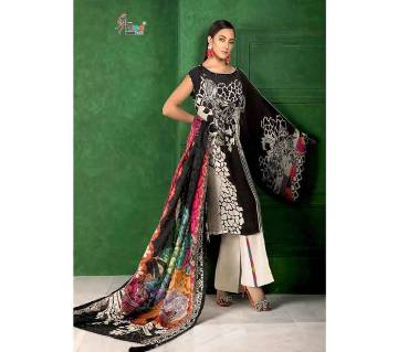 Unstitched santoon salwar kameez for women