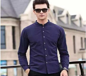 Long sleeve casual shirt for men -purple