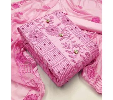 Unstitched Gujrati Cotton Dress for Women