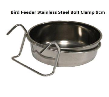 Bird Feeder Stainless Steel Bolt Clamp 9cm